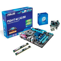 Kit Asus P5g41t M Lx2/br + Proc E7200 + 4gb (defeito Video)