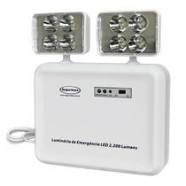 Luminária De Emergência Bloco Led 2.200 Lumens 2 Faróis
