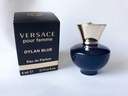 4a6c4c38bd Miniatura Perfume Versace Dylan Blue Pour Femme Edp 5ml - R  75