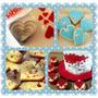 Set Cortantes Corazon X5 P/ Tortas Cupcake Cookies Porcelana