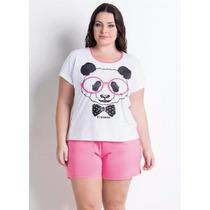 Pijama Blusinha E Shorts P. Size Feminino Roupa G Xg Xxg Elg
