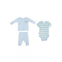 Conjunto 3 Piezas Baby Creysi Azul Niño 6 Y 12 Meses