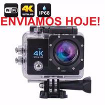 Camera Action Cam Go 4k Pro + Flutuante +bateria+ 64gb Ultra