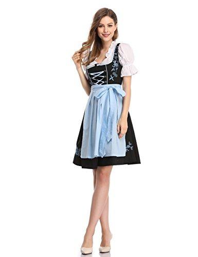 fd4b266833042 Vestido Para Mujer Glorystar Dirndl Aleman 3 Piezas Trajes D -   2