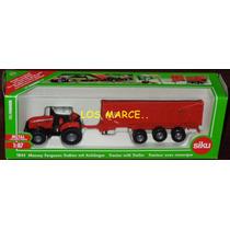 Siku 1844 Tractor Massey Ferguson 8480 With Trailer 1/87