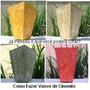 Como Fazer Vasos De Cimento