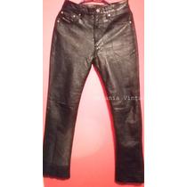 Pantalon Jeans De Cuero Marca Diesel Talla 38