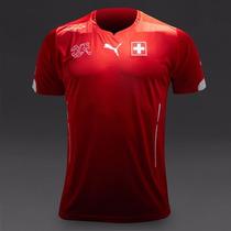 Jersey Selección Suiza Local Temporada 2014-2015 Marca Puma