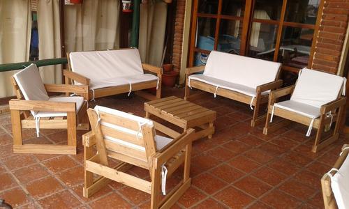 Sillones de madera maciza en mercado libre for Sillones rusticos de madera