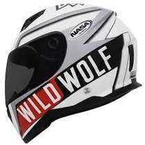 Capacete Nasa Sh-881 Wild Wolf 58