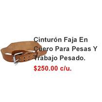 Cinturón Faja En Cuero Para Pesas Y Trabajo Pesado.