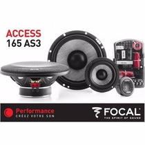 Set De Medios Focal 3 Vias 165as3 6.5 320 Watts Alta Gama