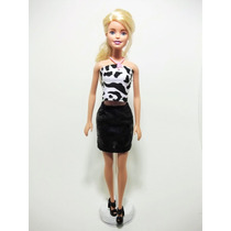 Blusinha De Zebra Com Saia Preta Para Barbie