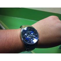 Relogio Emporio Armani Ar5860 Prata/azul Cx+manual 12xsj