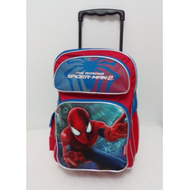 Maleta Morral Escolar Spiderman Hombre Araña, Cars Ben10