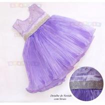 Vestido Festa Infantil Tema Princesa Sofia - Modelo Luxo