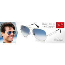 Óculos Ray Ban Aviador 3026 Azul Degradê Unisex Original