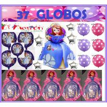 37 Globos Princesita Sofía,envìo Gratis,estrella,adorno.