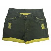 Short Jeans Curtinho Feminino Plus Size Pequenos Defeitos