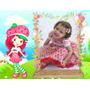 Vestido Princesa Festa Infantil Moranguinho Fantasia Luxo