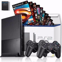 Playstation 2 Destravado +2 Controles+ Memorycard + 20 Jogos