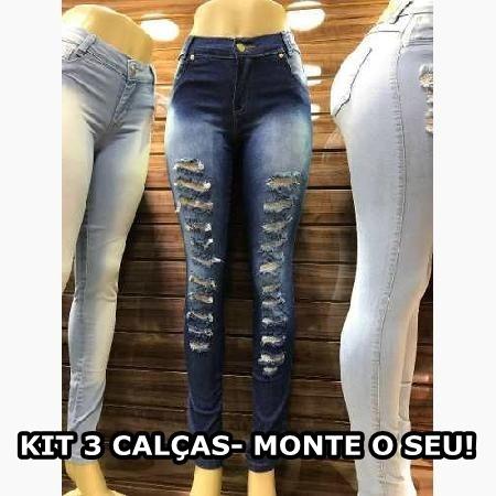Monte O Seu Kit 3 Calças Jeans Feminina Ou Cirre, Moletom Et - R  169,80 em Mercado  Livre 17af213f01