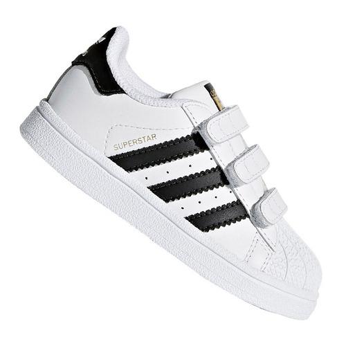 0ede7fd8bdd tênis infantil adidas superstar cf i branco e preto original. Carregando  zoom.