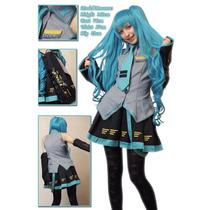 Cosplay Fantasia Roupa Hatsune Miku Vocaloid Pronta Entrega!