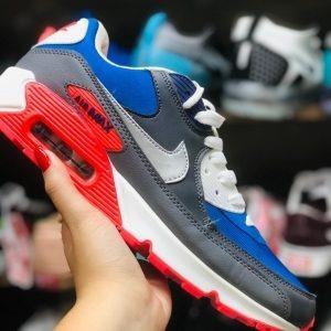ae5e03a626d Nike Air Max 90 Cinza Escuro Azul E Vermelho - R  450