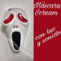 Scream Mascara Scary Movie Con Luz Y Sonido Halloween Local