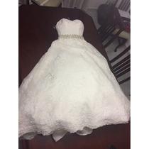 Vestido De Novia, Bridenformal, Velo Sencillo Y Tocado