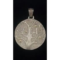 Hermosa Medalla De Árbol De La Vida De Plata Y Oro