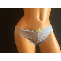 Victorias Secret Lenceria Bikini Con Encaje Color Lila 1mp3