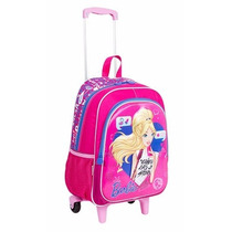 Mochila Mochilete Infantil C/ Rodinhas Barbie 17x G Sestini