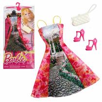 Roupa Fashion Barbie Original Mattel Vestido Flor Novo Cfx99
