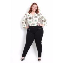 Calça Feminina Plus Size Tamanhos Grande Disfarça Celulites