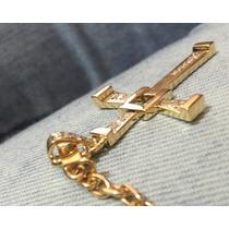 Corrente Cartier Oca 25 Gramas E Crucifixo Com Diamantes