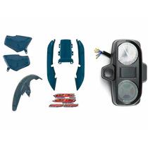 Kit Plásticos Carenagem Titan125 Cg125 97 Verde + Painel