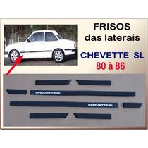 Friso Das Laterais Chevette Sl 1980 À 1986 2 Portas 8 Peças
