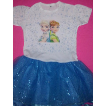 Vestidos Tutu Algodón Frozen Peppa Minnie Sofia Descendiente