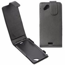Funda Flip Cover Sony Xperia Arc X12 Lt15 De Piel