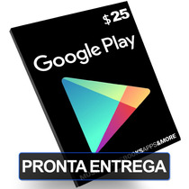 Cartão $25 Google Play Store Gift Card Dólares Us Android