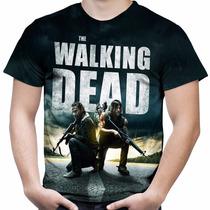 Camiseta Masculina Seriado The Walking Dead Estampa Total 02