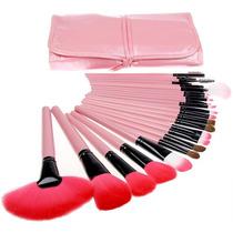 Kit De Pincel Para Maquiagem Com 24 Pcs + Com Estojo E Nf