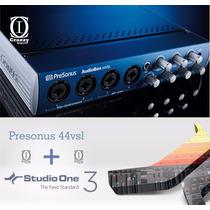 Presonus Audiobox 44vsl Interface + Studio One 3 + Brindes
