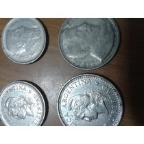 4 Monedas Antigua,moneda Argentina Año 1952,1956.1959,1960