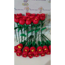 Lembrança Dia Das Mães Rosa C/ Bombom Kit C/10 Unidades
