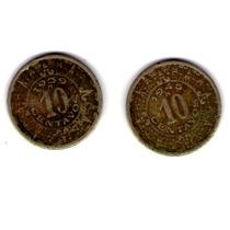 Monedas De 10 Centavos 1939 Y 1945 Inicio/fin 2da Guerra Mun