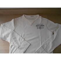Camiseta Infantil Abercrombie Kids Manga Longa Small