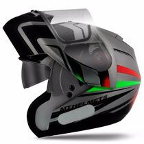 Capacete Escamoteável Com Óculos Interno Mt Helmets Optimus